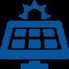 Stilisierte Solarzellen